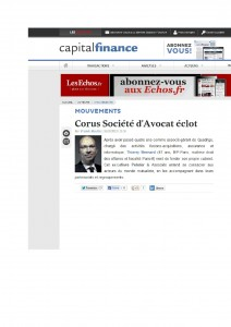 Article Capital Finance - Les Echos.fr - CORUS - 15.10.13