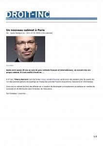 DROIT-INC. - Un nouveau cabinet à Paris - 30.10.13- 1