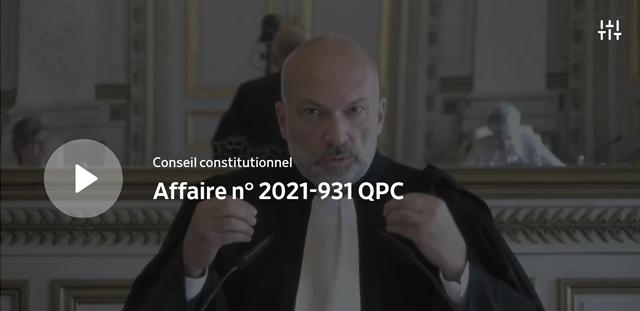 Plaidoirie devant le Conseil constitutionnel en faveur de la liberté d'association
